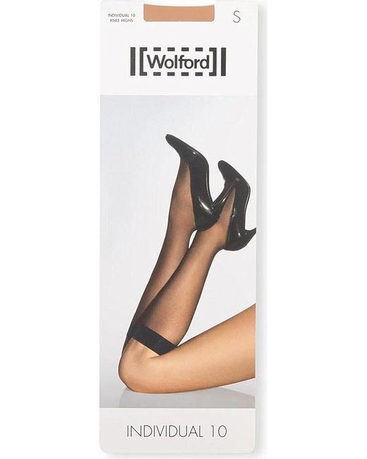 Wolford | Black Individual 10 Knee-highs | Lyst