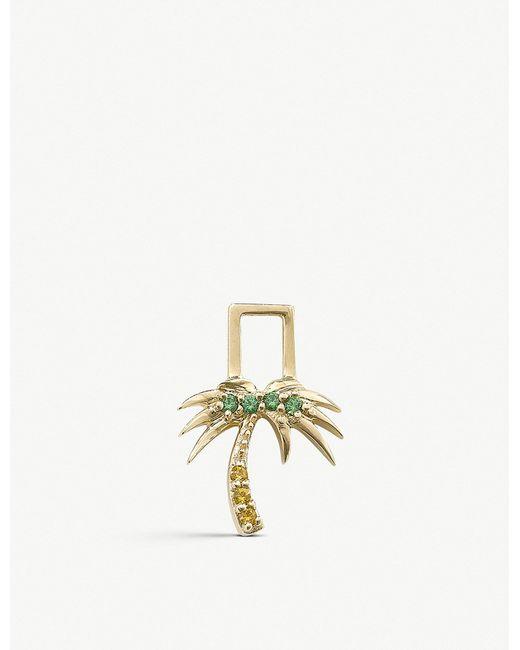 The Alkemistry - Metallic Robinson Pelham 14ct Yellow Gold And Sapphire And Tsavorite Palm Tree Earwish - Lyst