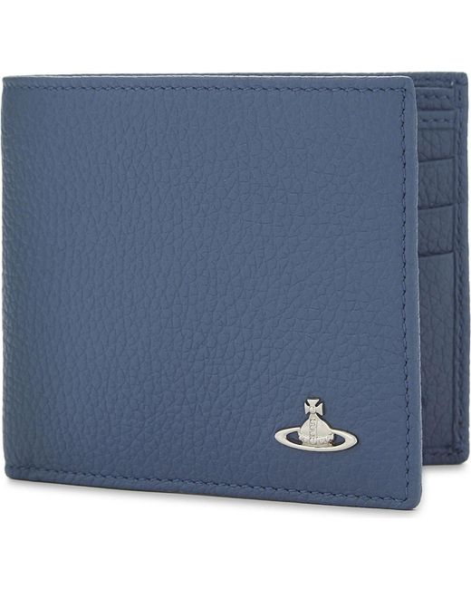 Vivienne Westwood | Blue Milano Grained Leather Billfold Wallet for Men | Lyst