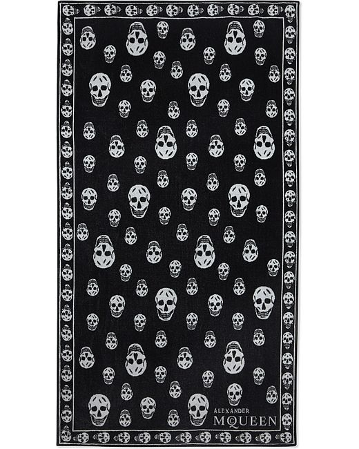 Alexander McQueen | Black Skull Cotton Towel for Men | Lyst