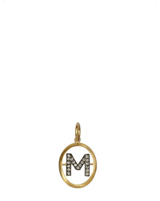 Annoushka - Metallic 18ct Yellow-gold And Diamond M Pendant - Lyst