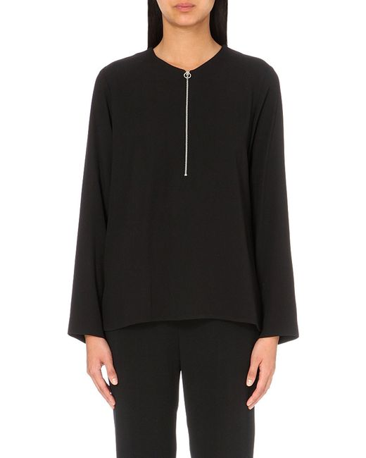 Stella McCartney | Black Arlesa Stretch-crepe Top | Lyst