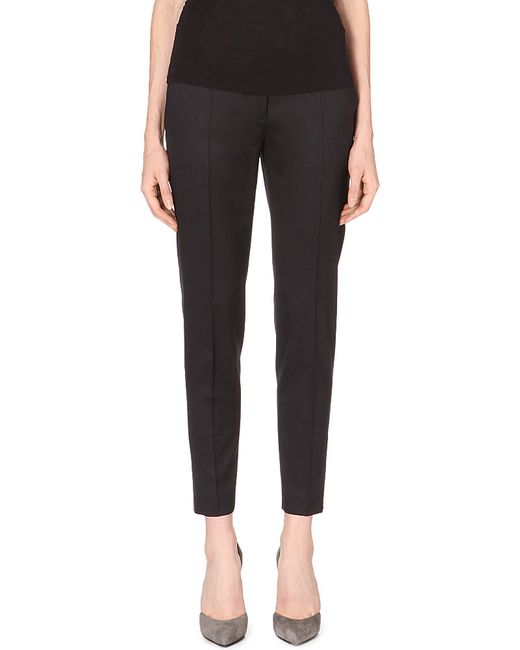Stella McCartney | Black Vivian Tapered Wool Trousers | Lyst