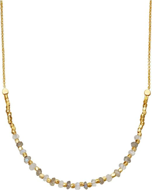Astley Clarke | Metallic Labradorite Detail 18ct Gold-plated Necklace | Lyst