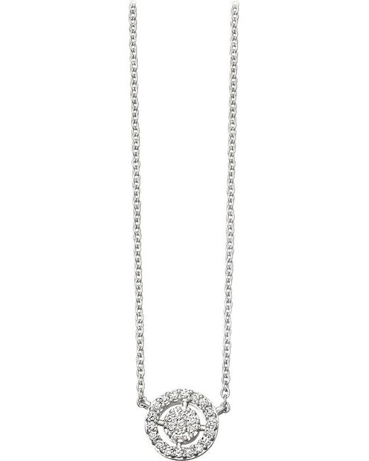 Astley Clarke | Metallic Mini Icon Aura 14ct White-gold And Diamond Pendant Necklace | Lyst