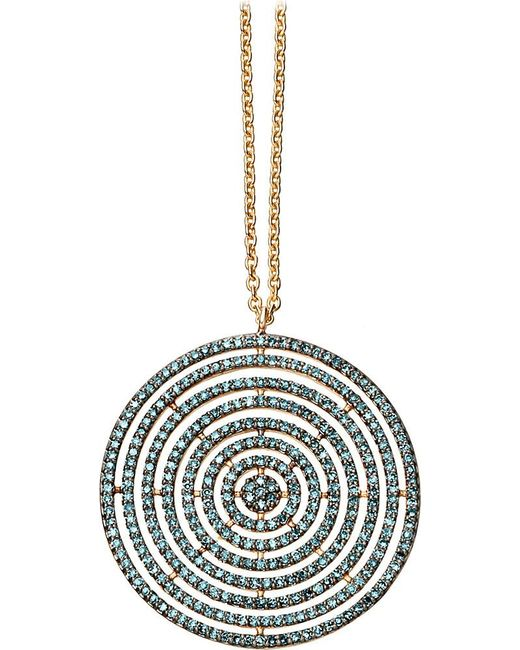 Astley Clarke | Large Icon Aura 14ct Yellow-gold And Blue Diamond Pendant Necklace | Lyst