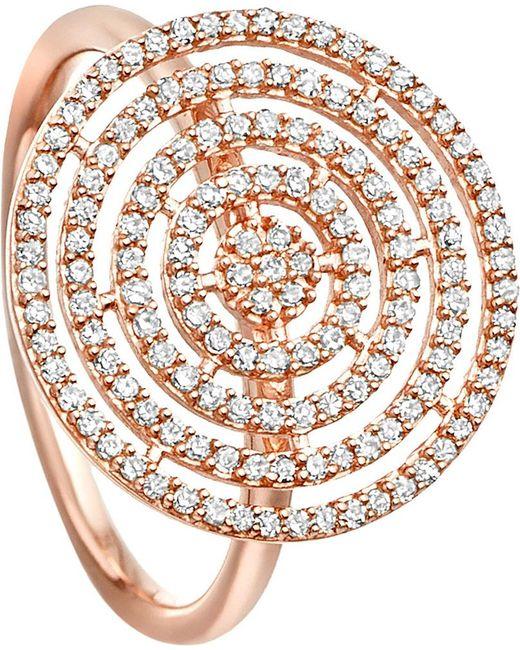 Astley Clarke | Metallic Icon Aura 14ct Rose-gold And Diamond Ring | Lyst