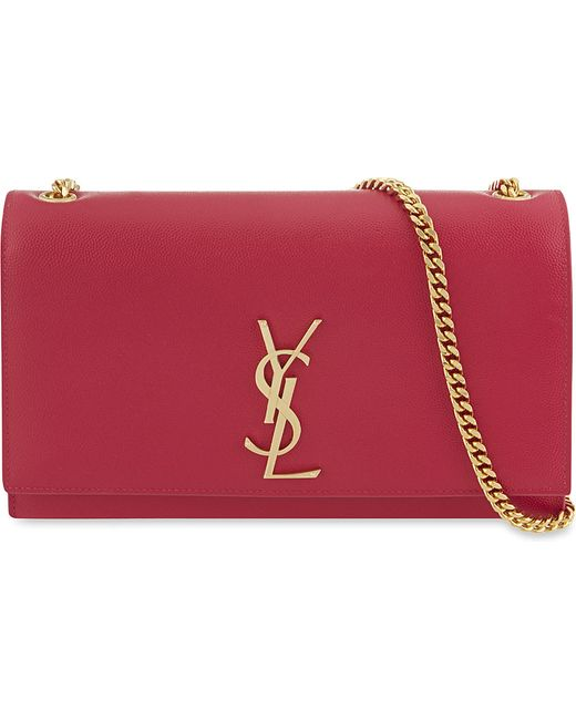Saint Laurent | Red Monogram Medium Leather Shoulder Bag | Lyst