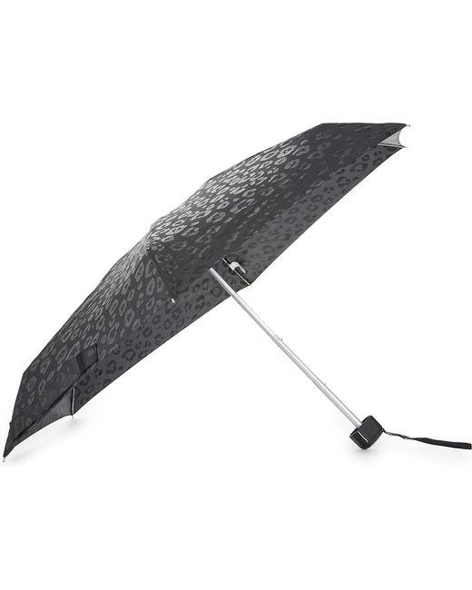 Fulton | Gray Ladies Black Leopard Luxury Print Umbrella | Lyst