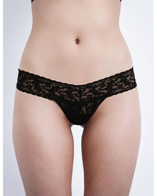 Hanky Panky - Black Signature Stretch-lace Low-rise Thong - Lyst