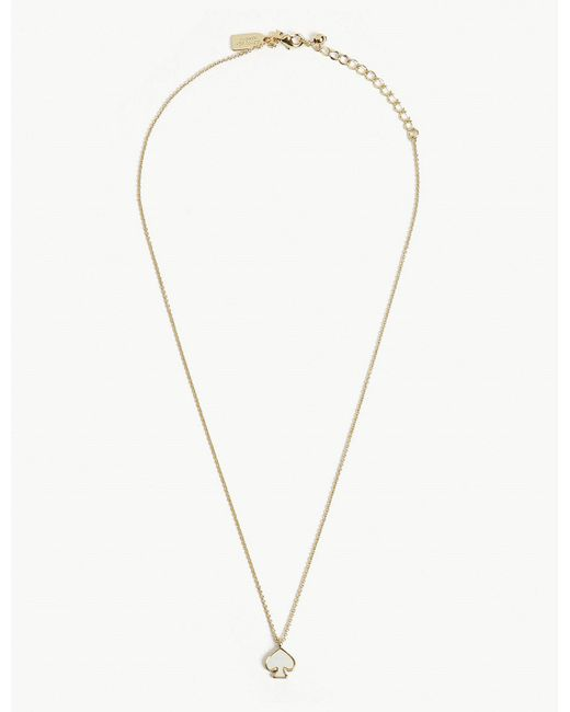 Kate Spade - Metallic Signature Spade Mini Gold-plated Pendant - Lyst