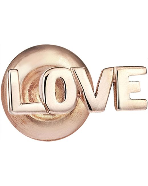 The Alkemistry - Multicolor Love 14ct Rose-gold Stud Earrings - Lyst