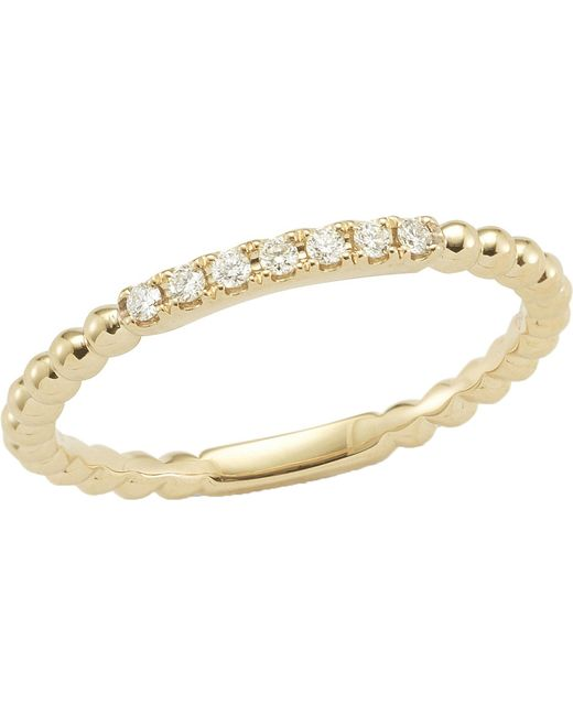 The Alkemistry - Metallic Diamond Band 14ct Yellow-gold Ring - Lyst