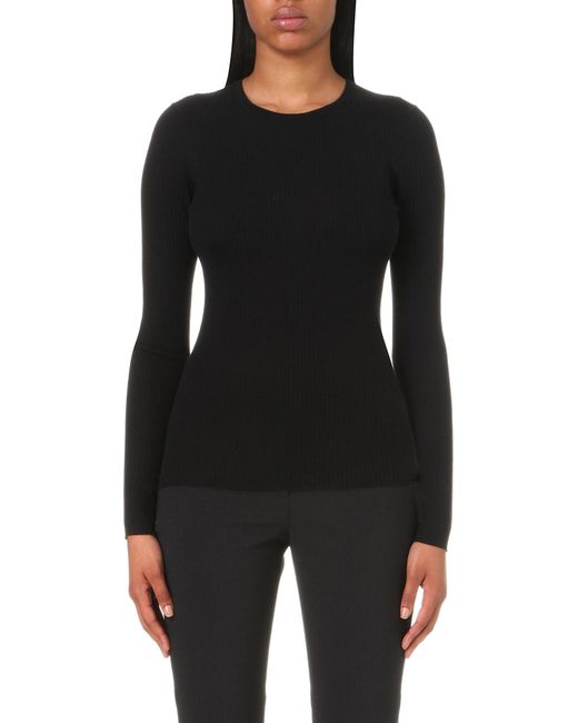 Theory - Black Mirzi Merino Wool Jumper - Lyst