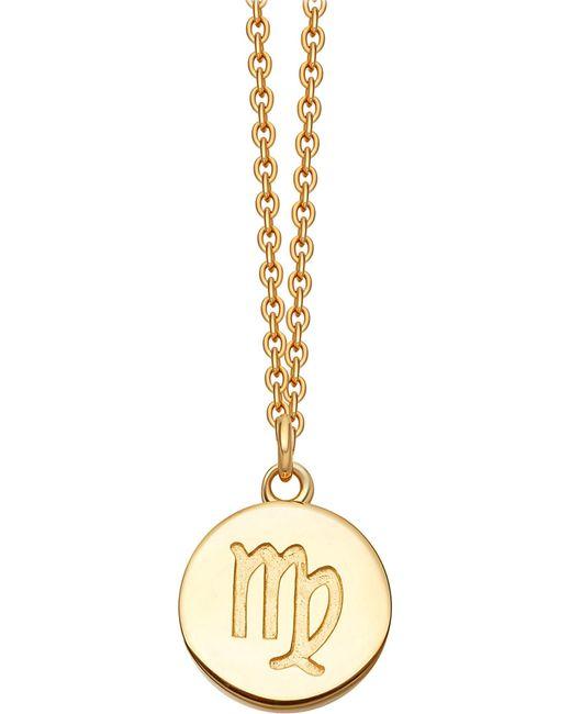 Astley Clarke   Metallic Virgo Zodiac 18ct Yellow-gold Plated Necklace   Lyst