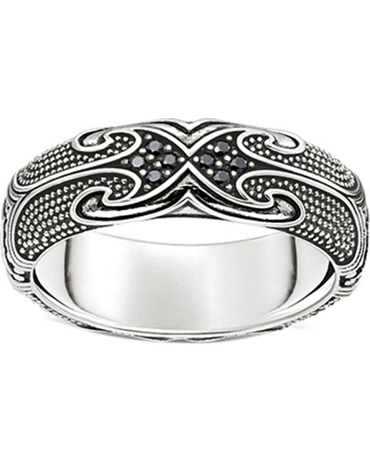 Thomas Sabo | Metallic Rebel At Heart Maori Sterling Silver Ring | Lyst