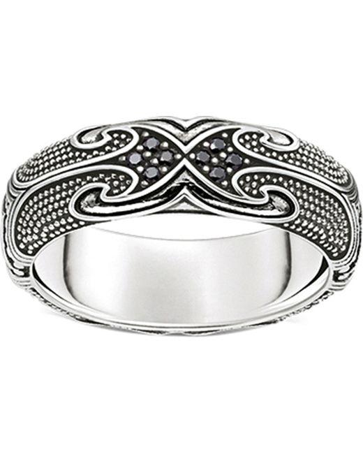 Thomas Sabo | Metallic Rebel At Heart Maori Sterling Silver Ring | Lyst