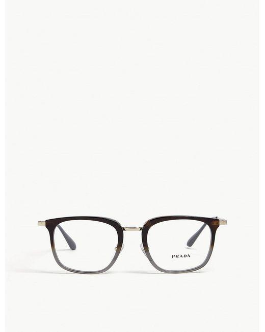 Prada - Gray Opr11uv Square-frame Optical Glasses for Men - Lyst
