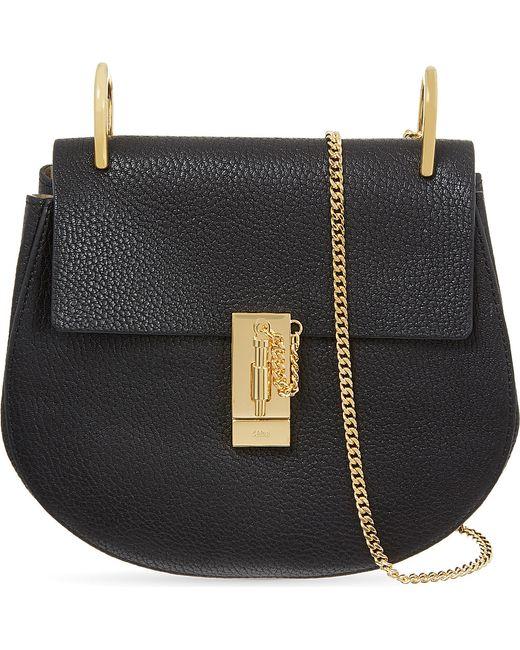 Chloé | Black Drew Small Leather Cross-body Bag | Lyst