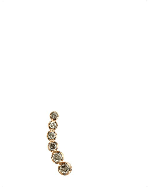 Annoushka - Metallic Dusty Diamonds 18ct Rose-gold And Diamond Right Ear Pin - Lyst