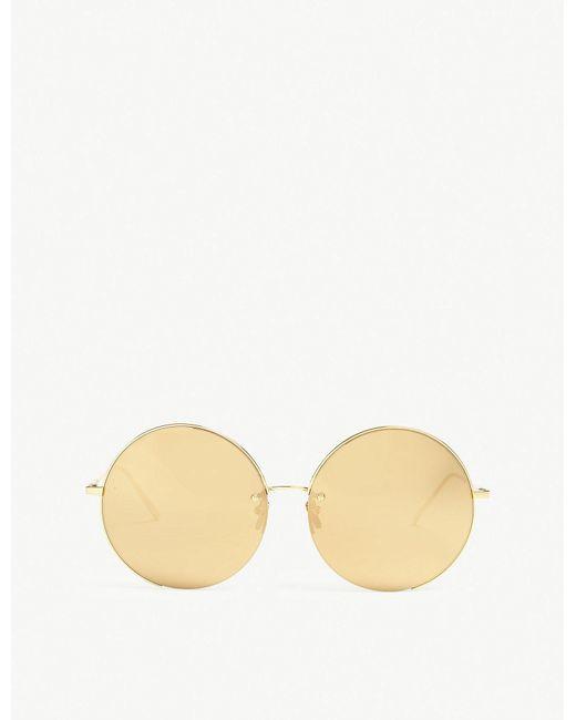 Linda Farrow - Metallic Lfl626 Round-frame Sunglasses - Lyst