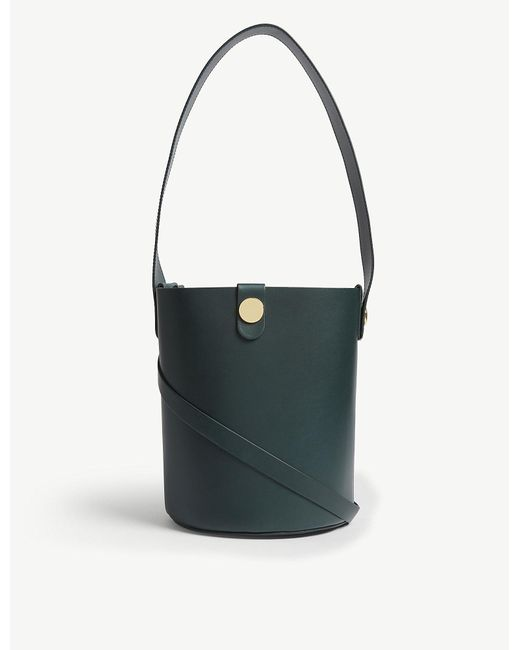Sophie Hulme - Forest Green Swing Shiny Leather Saddle Bag - Lyst