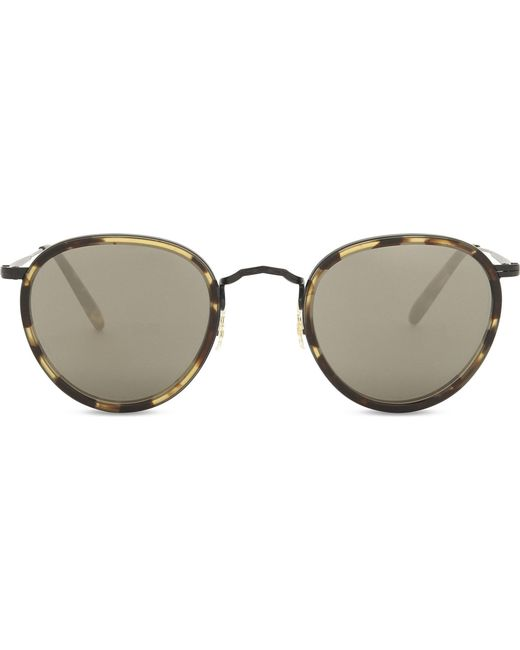 Oliver Peoples - Ladies Brown Havana Print Vintage Ov1104s Oval-frame Sunglasses - Lyst