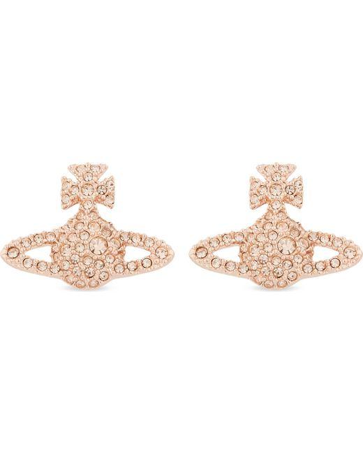 Vivienne Westwood | Black Grace Bas Relief Pavé Orb Stud Earrings | Lyst