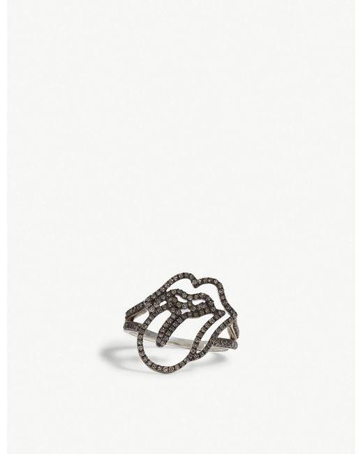 Jade Jagger - Metallic Rolling Stones Diamond Ring for Men - Lyst