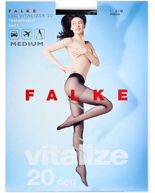 Falke | Black Vitalize 20 Denier Tights | Lyst