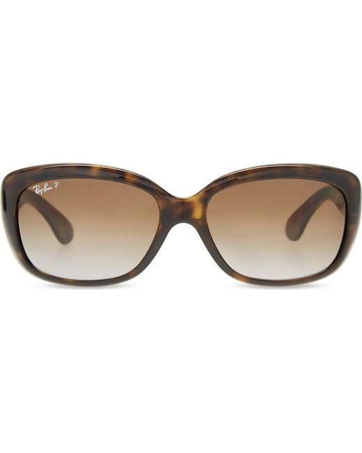 675fb6e7be4 Ray-Ban - Brown Jackie Ohh Rb4101 Rectangle-frame Polarised Sunglasses -  Lyst