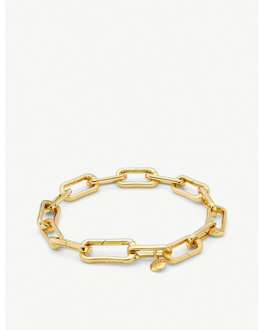 Monica Vinader - Metallic Alta Capture 18ct Gold Vermeil Charm Bracelet - Lyst