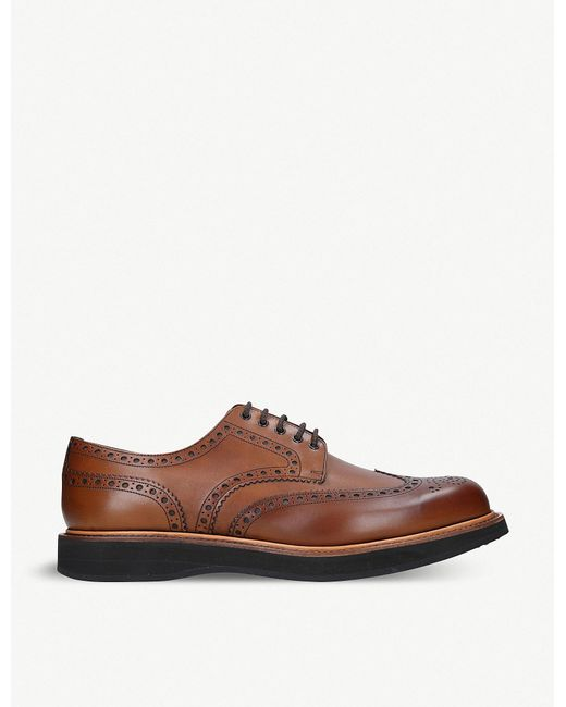Church's - Brown Tewin Leather Wedge Derby Shoes for Men - Lyst