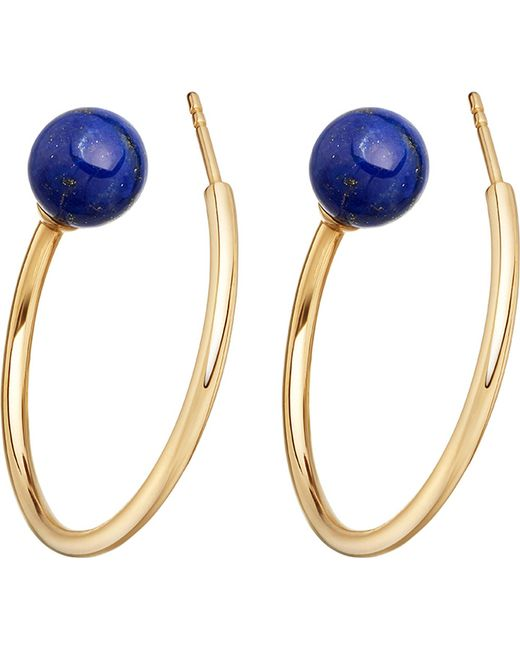 Astley Clarke | Metallic Ezra Yellow-gold Vermeil & Lapis Hoop Earrings | Lyst