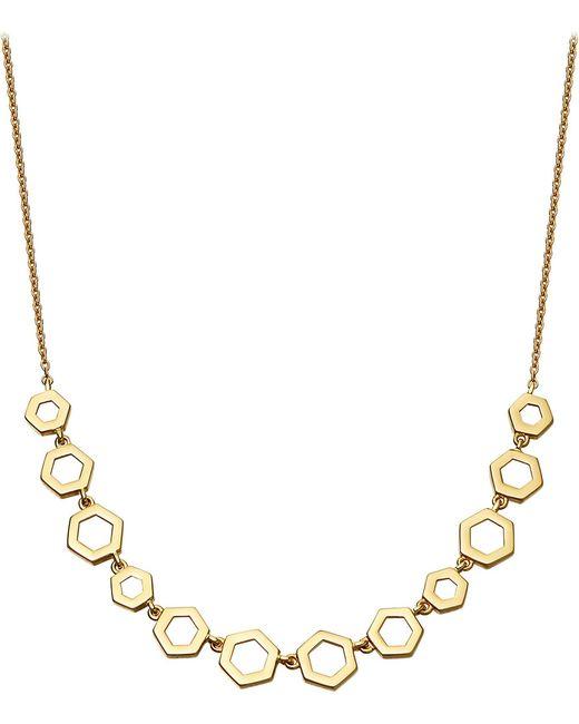 Astley Clarke - Metallic Honeycomb 14ct Yellow-gold Necklace - Lyst