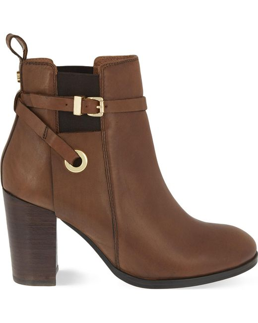 Carvela Kurt Geiger - Brown Stacey Leather Ankle Boots - Lyst