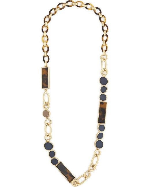 Max Mara | Metallic Metal And Resin Chain Necklace | Lyst