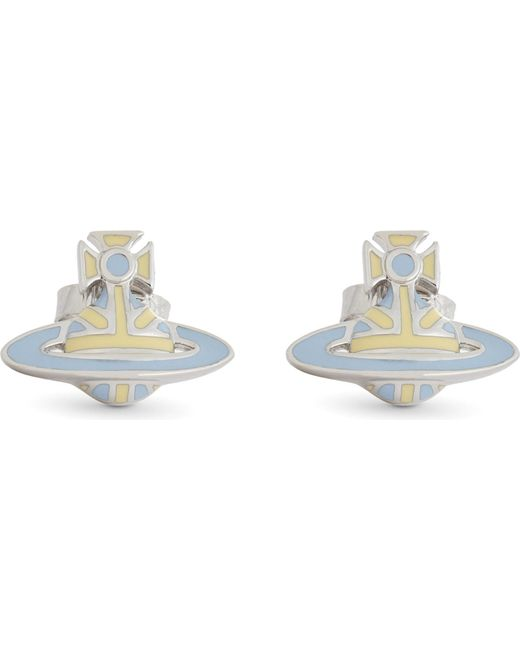 Vivienne Westwood | Blue Orb Stud Earrings | Lyst