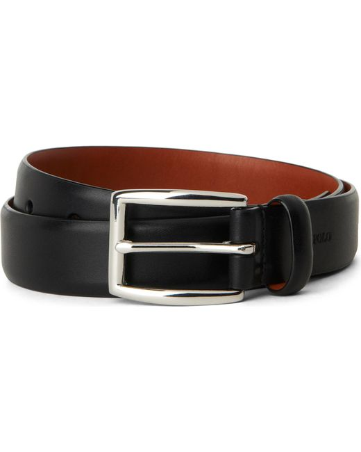 Polo Ralph Lauren - Black Embossed-logo Belt for Men - Lyst