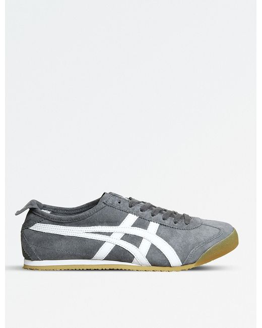 Onitsuka Tiger - Gray Mexico 66 Suede Trainers for Men - Lyst