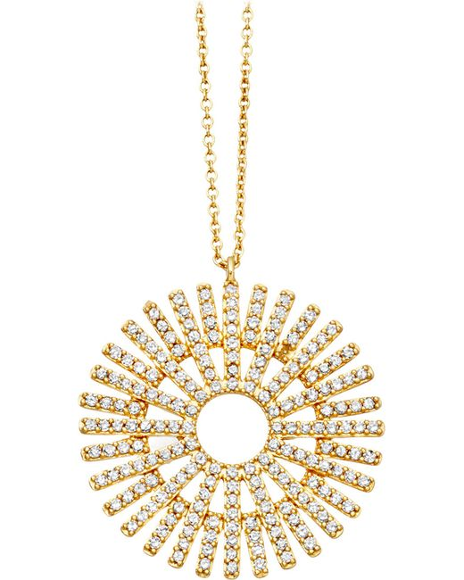 Astley Clarke - Metallic Rising Sun Large 18ct Gold Diamond Pendant - Lyst