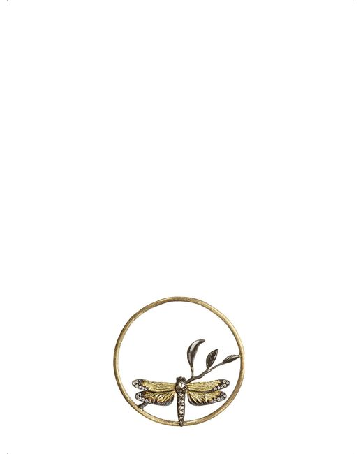 Annoushka - Yellow Hoopla Dragonfly Diamond 18ct Rose-gold Pendant - Lyst