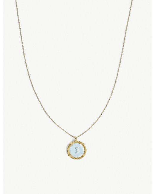 Maje - Metallic Number 3 Medallion Brass Necklace - Lyst