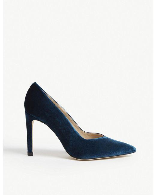 Sandro - Blue Daphnée Velvet Courts - Lyst