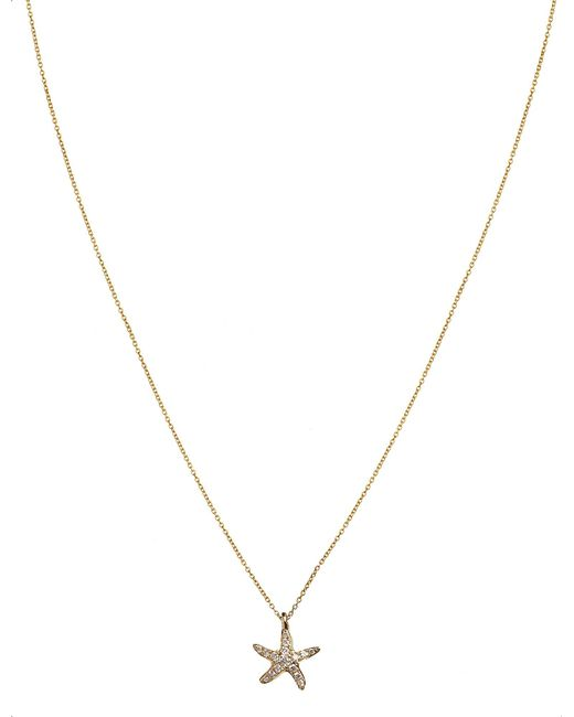 Annoushka | Metallic Love Diamonds 18ct Yellow-gold And Diamond Starfish Pendant Necklace | Lyst
