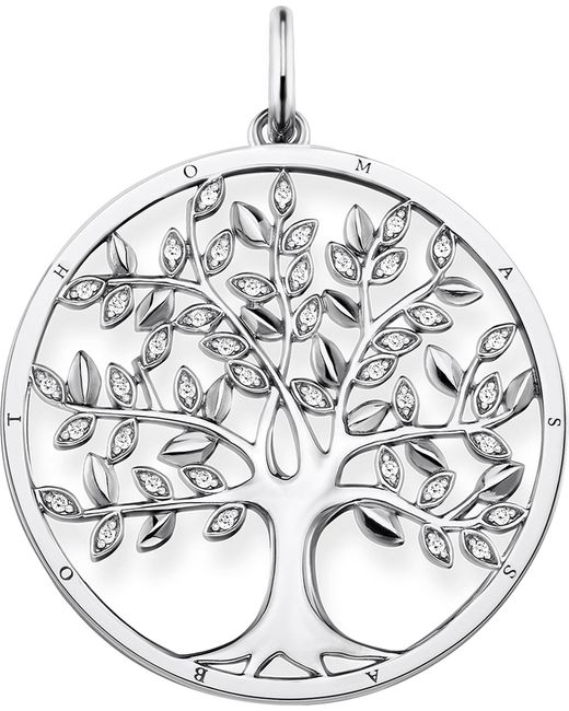 Thomas Sabo - Metallic Tree Of Love Sterling Silver And Zirconia Pendant - Lyst