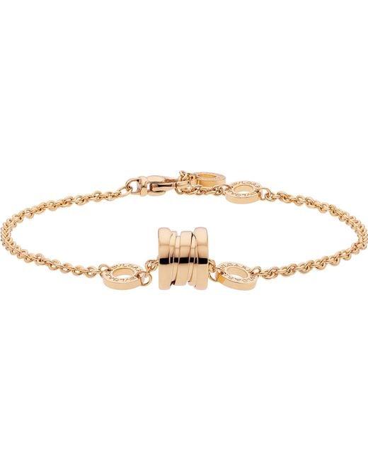 BVLGARI - B.zero1 18kt Pink-gold Bracelet - Lyst