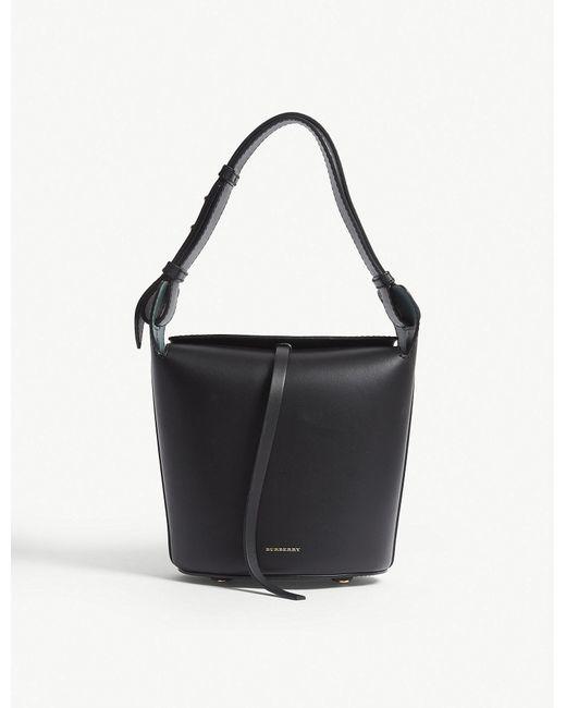Burberry - Ladies Black Modern Leather Bucket Bag - Lyst