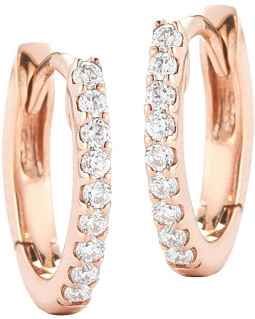 The Alkemistry - Metallic 14ct Rose Gold And Diamond Earrings - Lyst