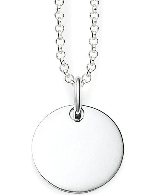 Thomas Sabo | Metallic Love Bridge Sterling Silver Round Tag Necklace | Lyst